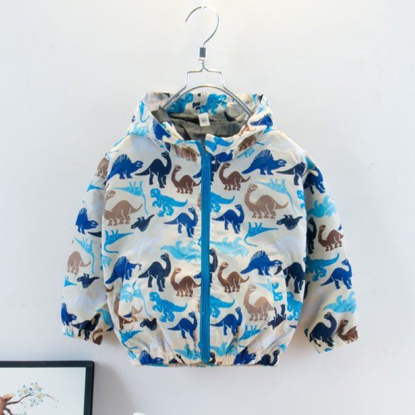 Boys Dinosaur Printed Jacket Boy Clothing Wholesale
