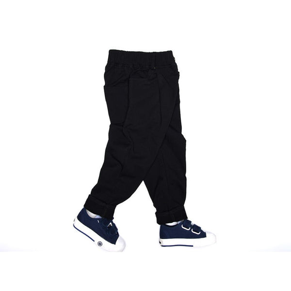 Boys Elastic Band Solid Causal Pants Wholesale Boys Clothing