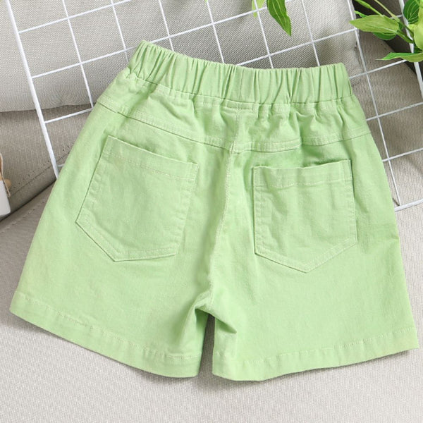 Boys Green Sports and Leisure Shorts Baby Boy Leggings & Bottoms Wholesale Boy Clothes