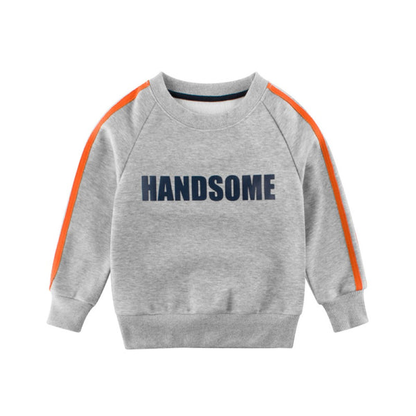 Boys Handsome Printed Round Neck Long Sleeves Top Wholesale Boys Clothing Suppliers