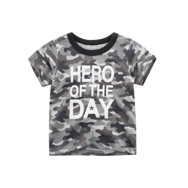 Boys Hero On The Days Camouflage Pattern Shirt Wholesale Toddler Boy Clothes