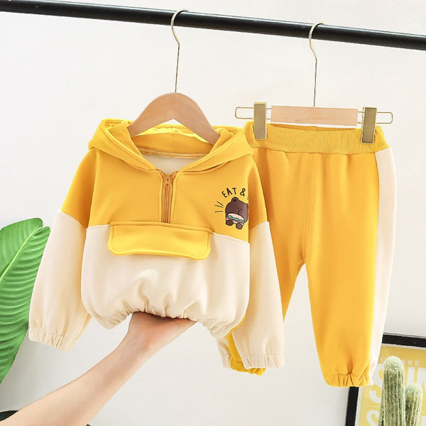 Boys Hooded Cartoon little Bear Boys Casual Suits