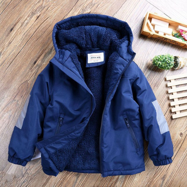 Boys Hooded Long Sleeves Padded Jacket Little Boy Boutique Wholesale