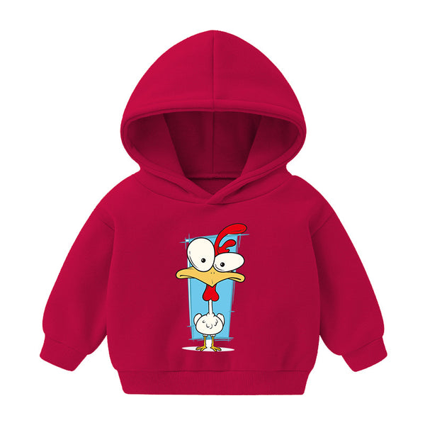 Boys Hooded Turkey Cartoon Printed Top Wholesale Boys Boutique Clothing