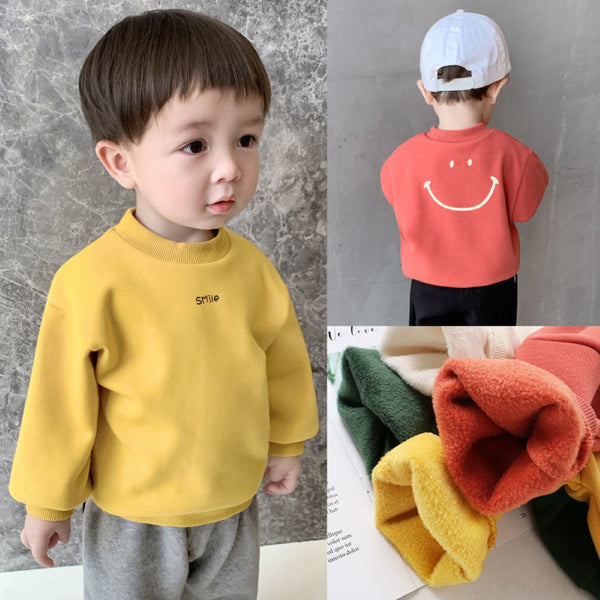 Boys Long Sleeve Smile Letter Printed Shirt Wholesale Toddler Boy Clothing