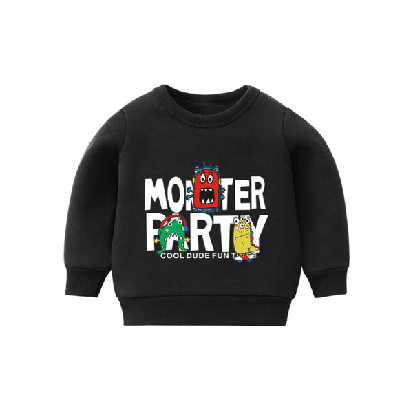 Boys Monster Party Pattern Top Wholesale Toddler Boy Clothes