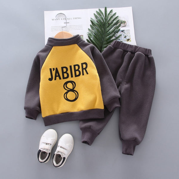 Boys Number Eight Jabibr Letter Parinted Top & Suits Wholesale Boys Boutique Clothing