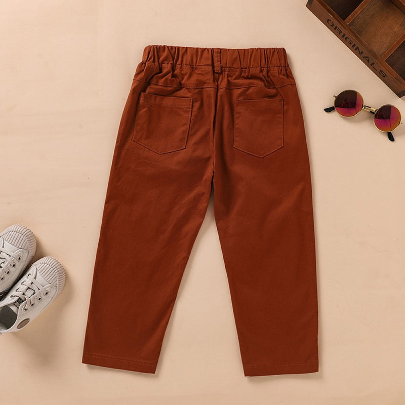 Boys Pocket Letter Tape Causal Pants Wholesale Boy Clothing