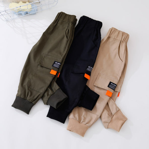 Boys Pocket Solid Pants Little Boys Wholesale Clothin