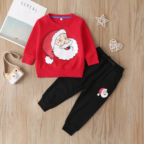 Boys  Round Neck  Santa Claus Suit Boys Casual Suits