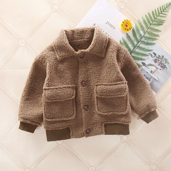 Boys Single-breasted Fur Jackets & Outerwear Boy Boutique Clothing Wholesale
