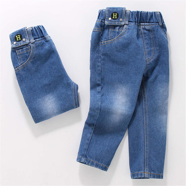 Boys Solid Color Casual Jeans Wholesale Boys Clothing