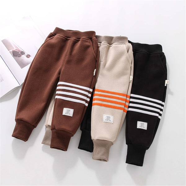 Boys Solid Color Striped Pants Wholesale Boys Clothes