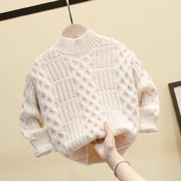 Boys Solid Color & Texture High Neck Sweater Wholesale Toddler Boy Clothes