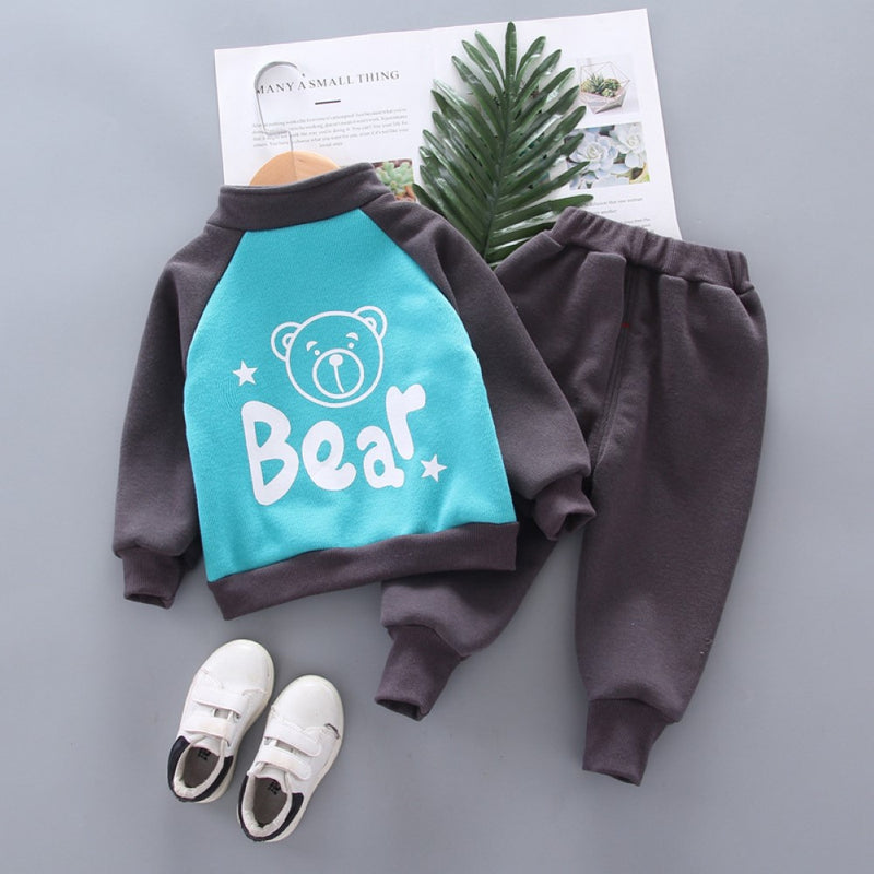 Boys Star Bear Pattern Long Sleeves Top & Pants Boy Boutique Clothing Wholesale