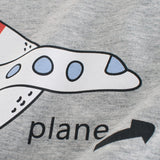 Boys Summer Boys' Airplane Printed Round Neck Short Sleeve T-Shirt Boys Wholesale Clothing