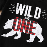 Boys Summer Boys' Animal Letters Printed Round Neck Short Sleeve T-Shirt & Pants Boy Clothes Wholesale