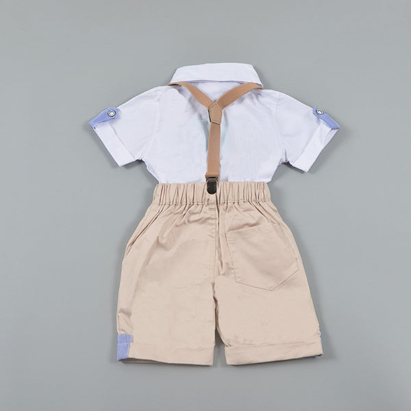 Boys Summer Boys' Suspenders & Solid Shirt & Bow Tie Kids Clothing Suppliers