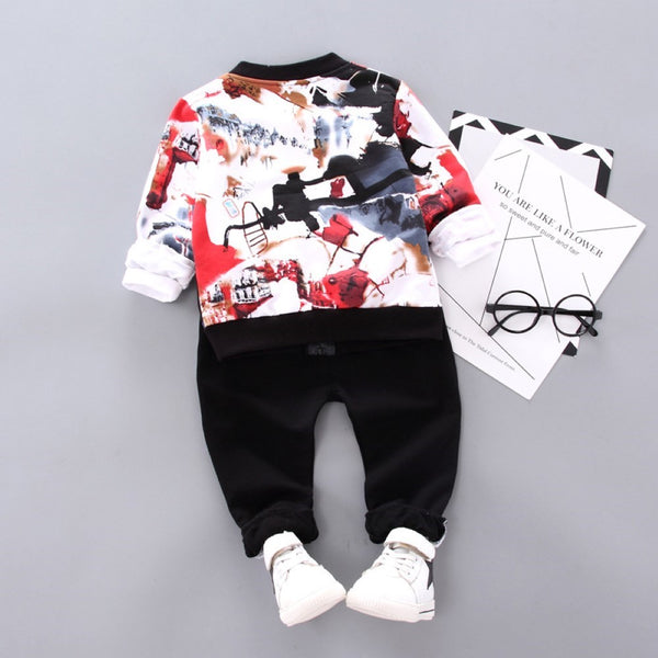 Boys Tie Dye Zipper Jacket Three-piece Suit Wholesale Boys Boutique Clothing