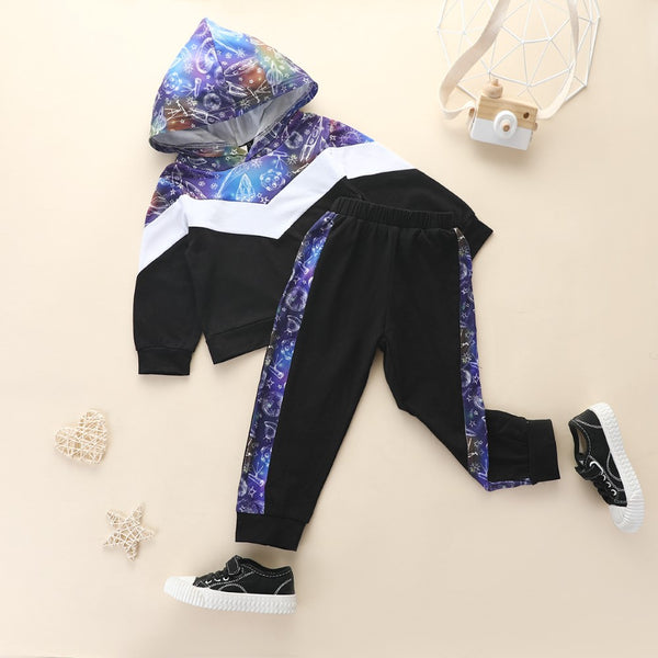 Boys Universe Star Printed Top & Pant Wholesale Toddler Boy Clothing