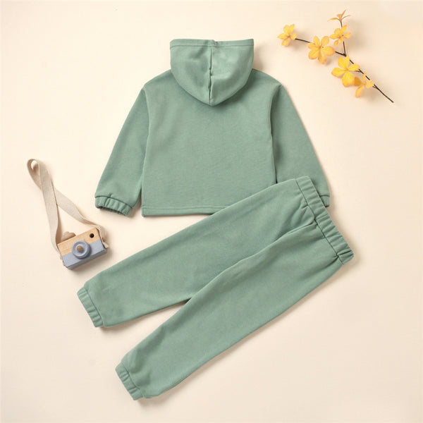Girls Butterfly Flying Long Sleeve Hooded Top & Pants Baby Girl Boutique Clothing Wholesale
