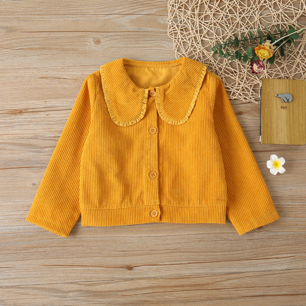 Toddler Girls Button Cardigan Solid Long Sleeve Jacket Wholesale Girls