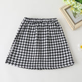 Girls Button Paid Pocket Skirt Trendy Kids Wholesale Clothing