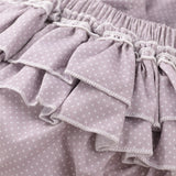 Baby Girls Button Polka Dot Short Sleeve Romper & Headband Baby Clothing Cheap Wholesale