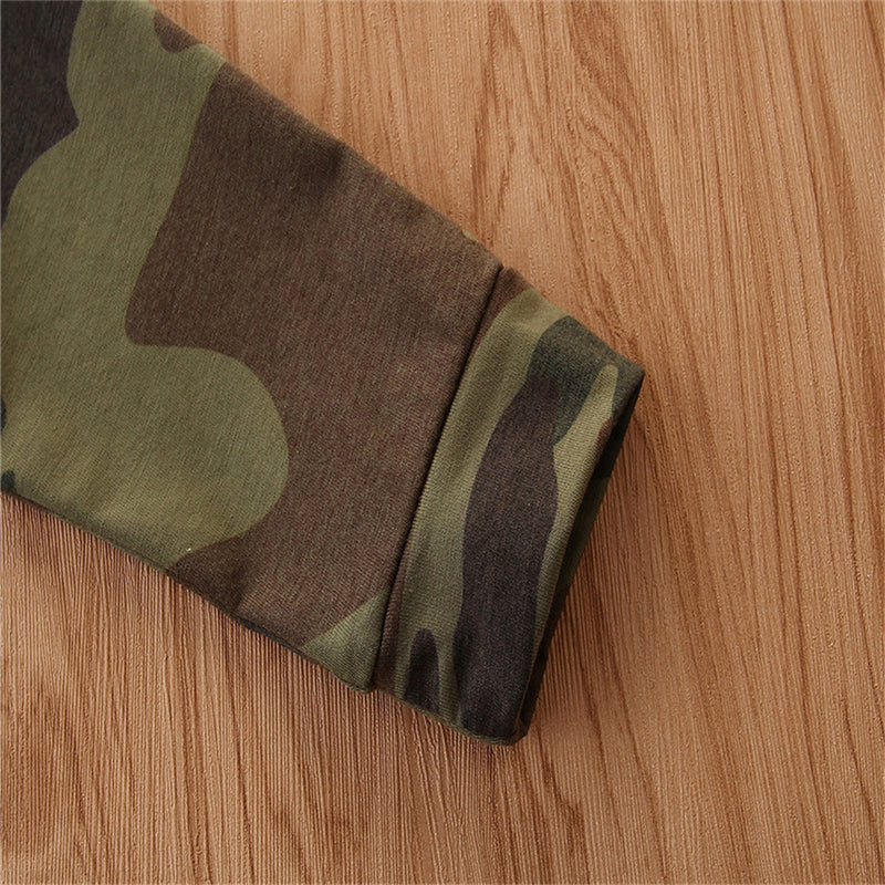 Baby Boys Camo Cute Hooded Top & Trousers Baby Boutique Clothing Wholesale