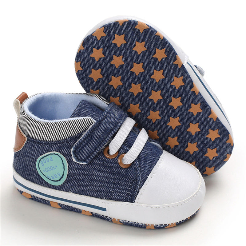 Baby Boys Canvas Magic Tape Casual Sneakers