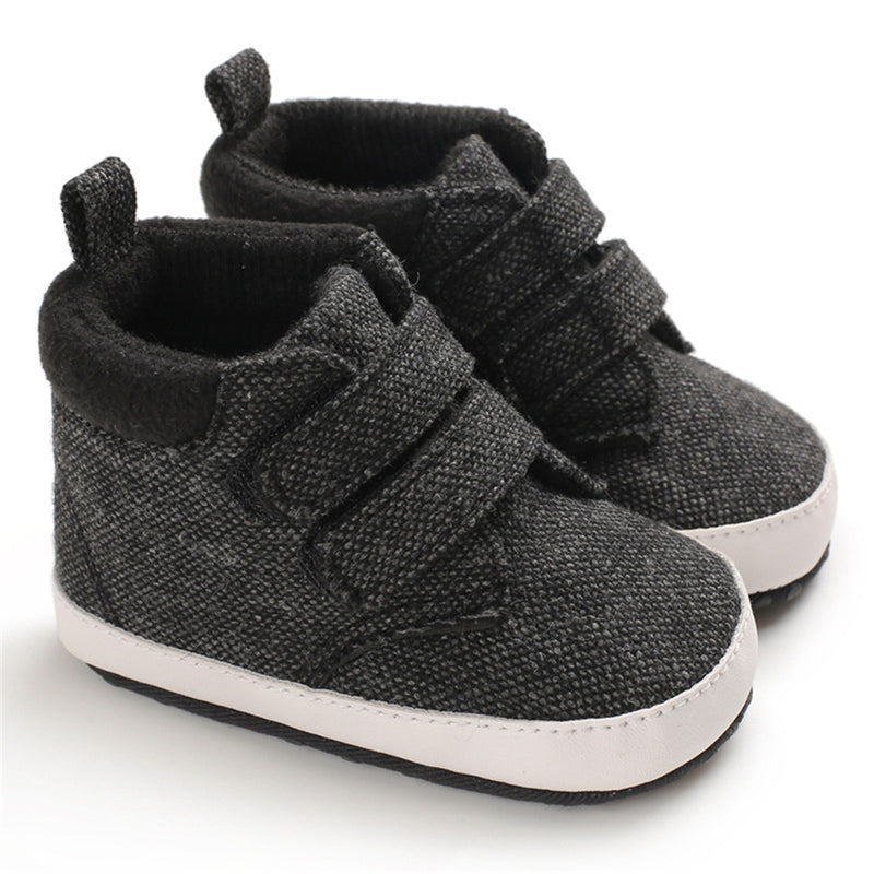 Baby Boys Canvas Magic Tape Solid Sneakers Wholesale Toddlers Canvas Shoes