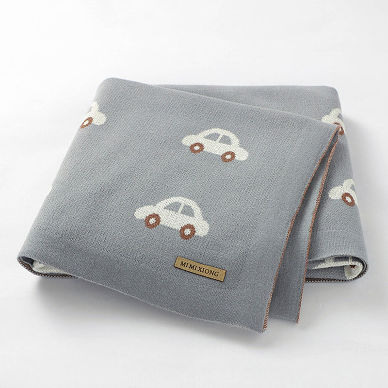 Baby Car Knitted Cartoon Casual Baby Blankets Wholesale