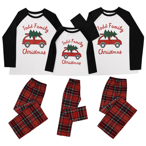 Parent-Child Car Letter Printed Top & Pants Mommy And Me Wholesale Clothing
