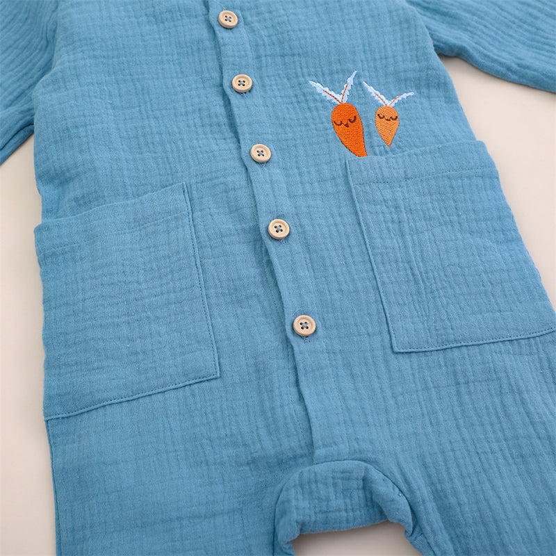 Baby Girls Cardigan Long Sleeve Carrot Pocket Romper Buy Baby Clothes Wholesale