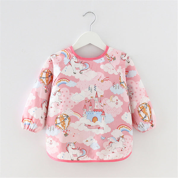 Baby Cartoon Beading Waterproof Long Sleeve Bids Baby Accessories Wholesale