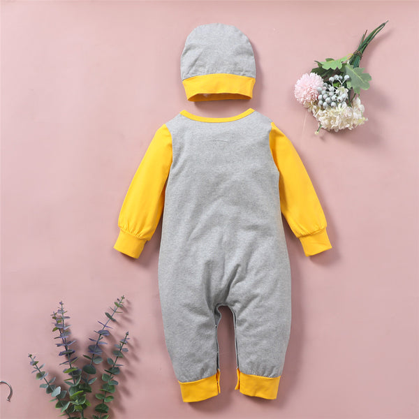 Baby Boys Cartoon Bear Printed Long Sleeve Romper & Hat Buy Baby Clothes Wholesale