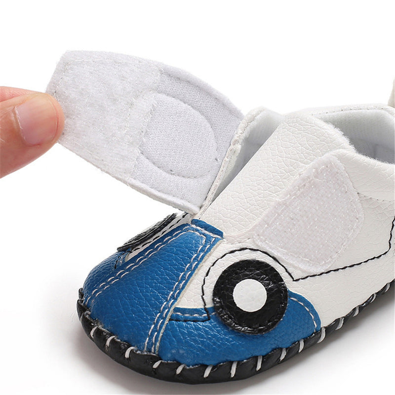 Baby Boys Cartoon Car Slip On Sneakers