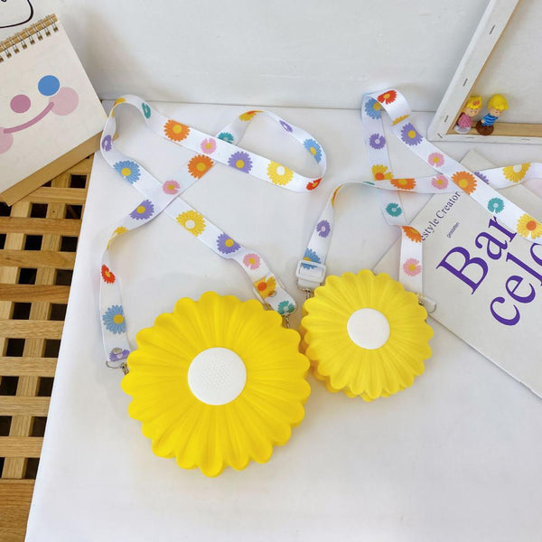 Cartoon Cute Little Daisy Silicone Children's Bag Children's Bags Wholesale