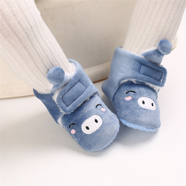 Baby Unisex Cartoon Cute Magic Tape Snow Boots Wholesale Children Shoes