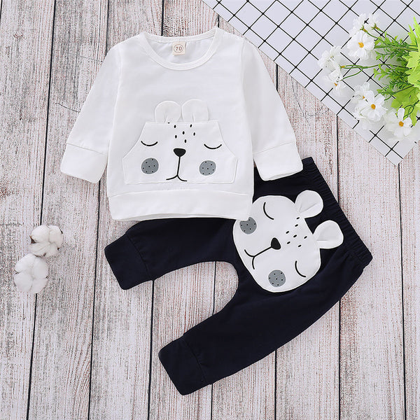 Baby Unisex Cartoon Cute Top & Pants Cheap Baby Boutique Clothes