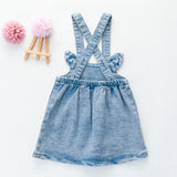 Girls Cartoon Denim Suspender Dress Wholesale Little Girl Boutique Clothing