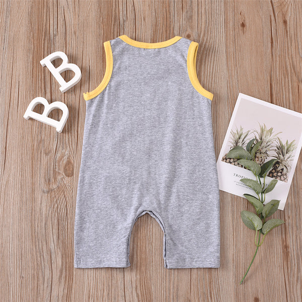 Baby Unisex Cartoon Fruit Printed Summer Sleeveless Romper Baby Wholesale Suppliers