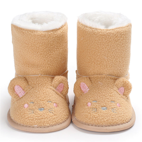 Baby Unisex Cartoon Fur Warm Snow Boots Baby Shoes Wholesale