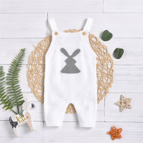 Baby Unisex Cartoon Knitted Button Jumpsuit Baby Clothes Wholesale Bulk