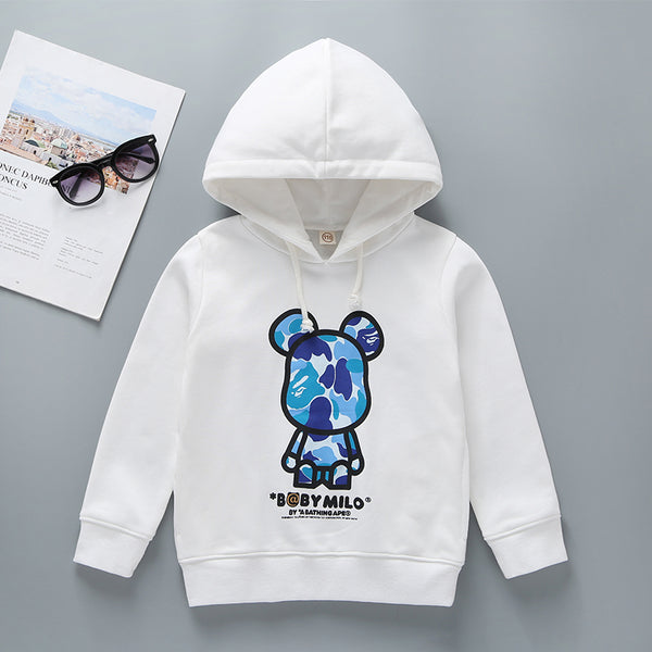 Cartoon Letter Graphic Long Sleeve Hoodie Sweatshirt Family Outfits