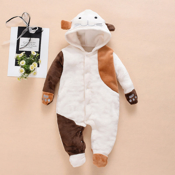 Baby Boys Cartoon Long Sleeve Hooded Romper Bulk Baby Clothing