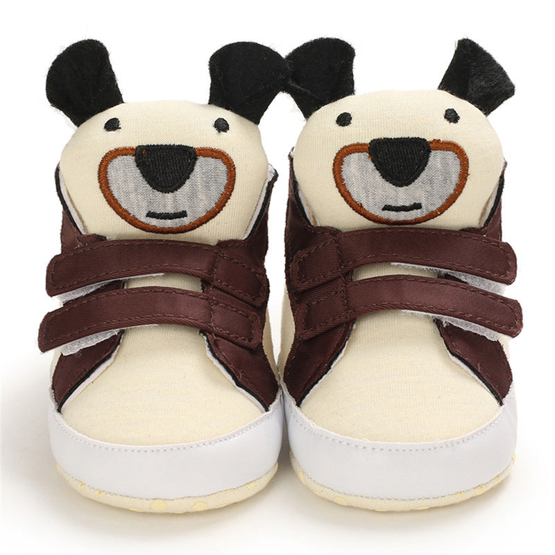 Baby Unisex Cartoon Magic Tape Canvas Sneakers Toddler Shoes Wholesale