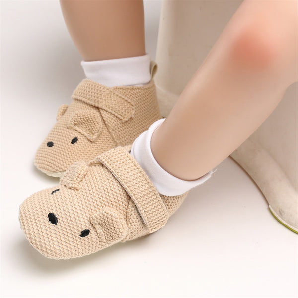 Baby Unisex Cartoon Magic Tape Flats Kids Shoes Wholesale