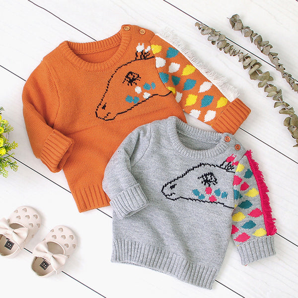 Unisex Cartoon Pony Knitted Pullover Sweaters Buy Baby Clothes Wholesale