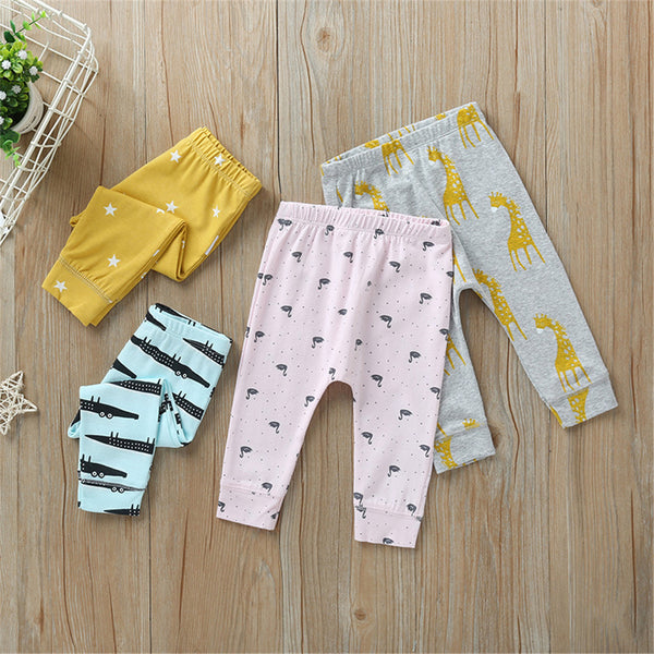 Baby Unisex Cartoon Printed Bottoms Wholesale Baby Outfits